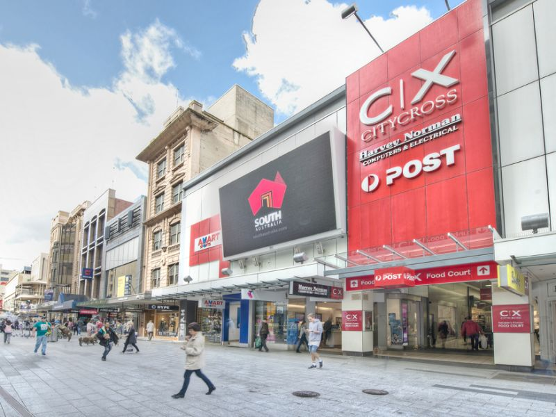 City cross shopping centre adelaide retail properties for 195 north terrace adelaide